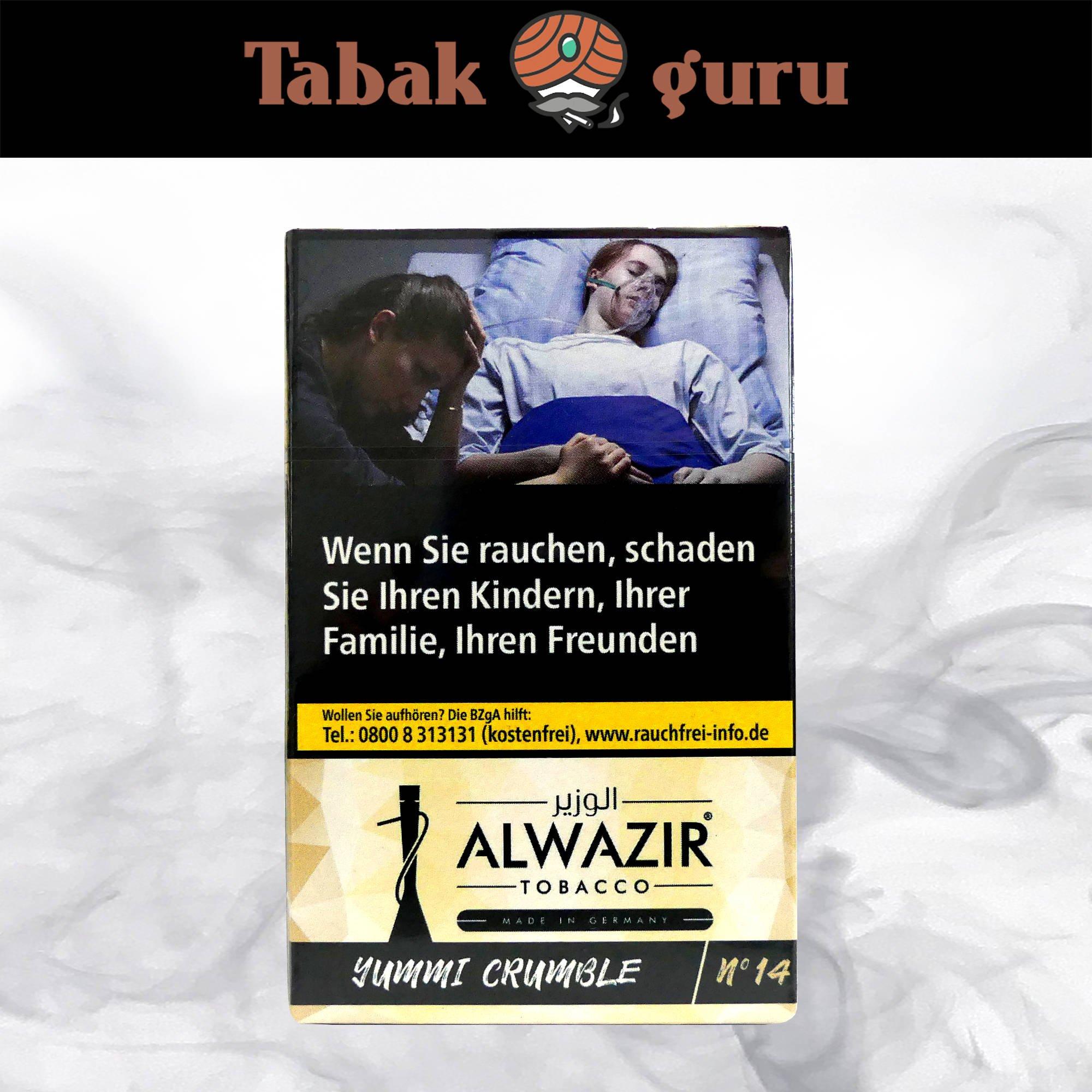 Alwazir Shisha Tabak - No. 14 - YUMMI CRUMBLE 50g