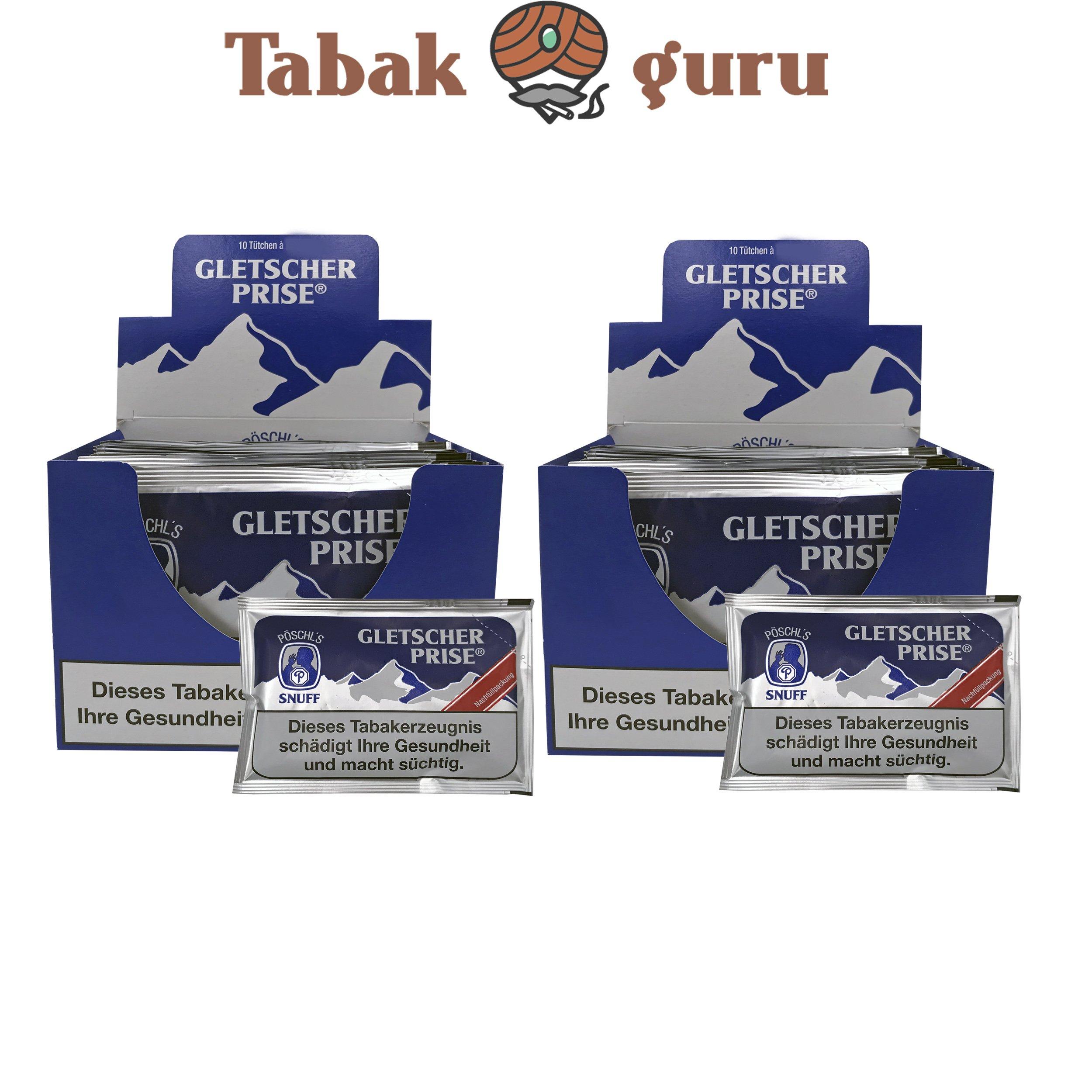 20x Gletscher Prise Snuff Schnupftabak 25g Beutel