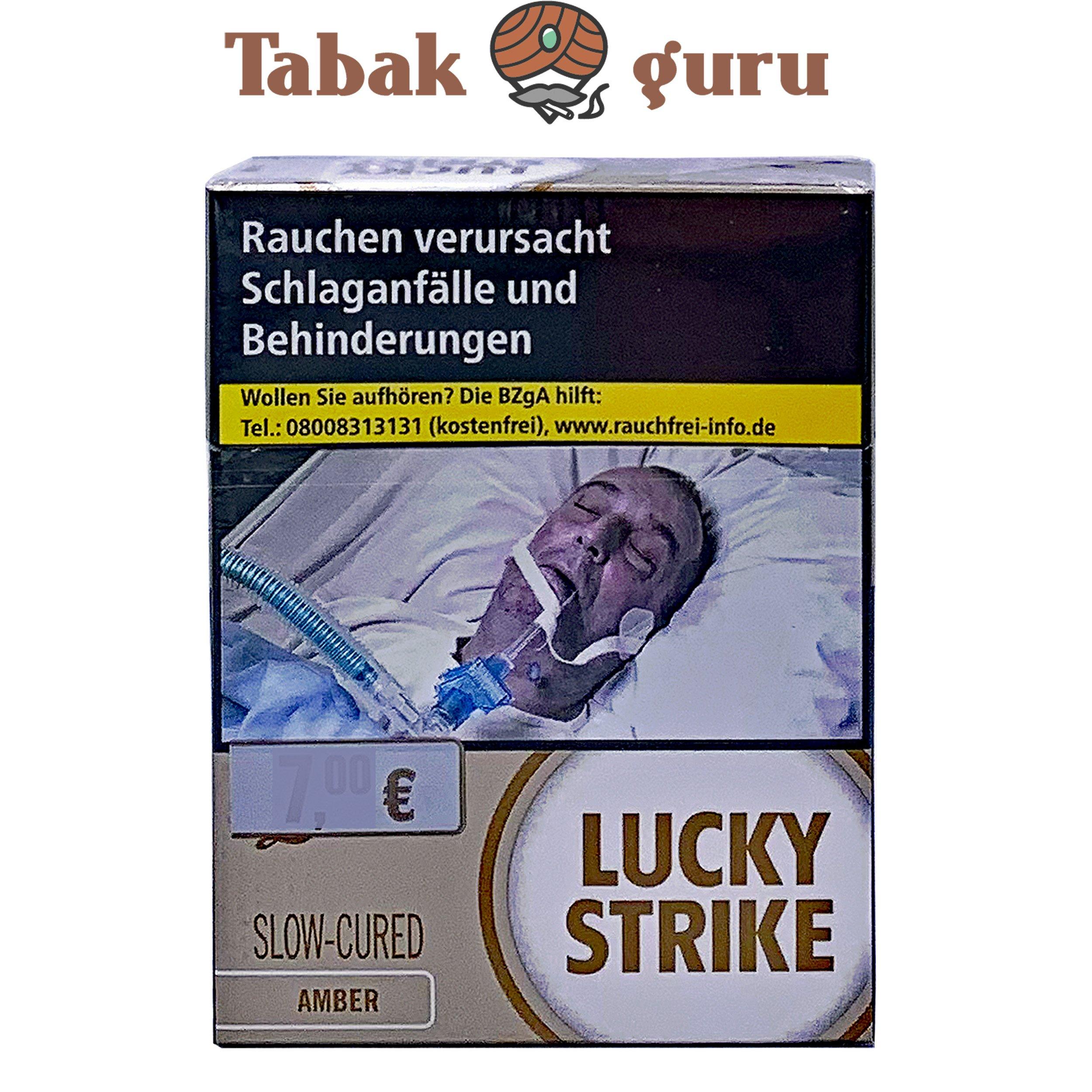 Lucky Strike Amber Zigaretten Super Box Inhalt 39 Stück