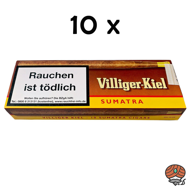 10 Schachteln Villiger Kiel Sumatra Zigarillos Inhalt 10 Stück