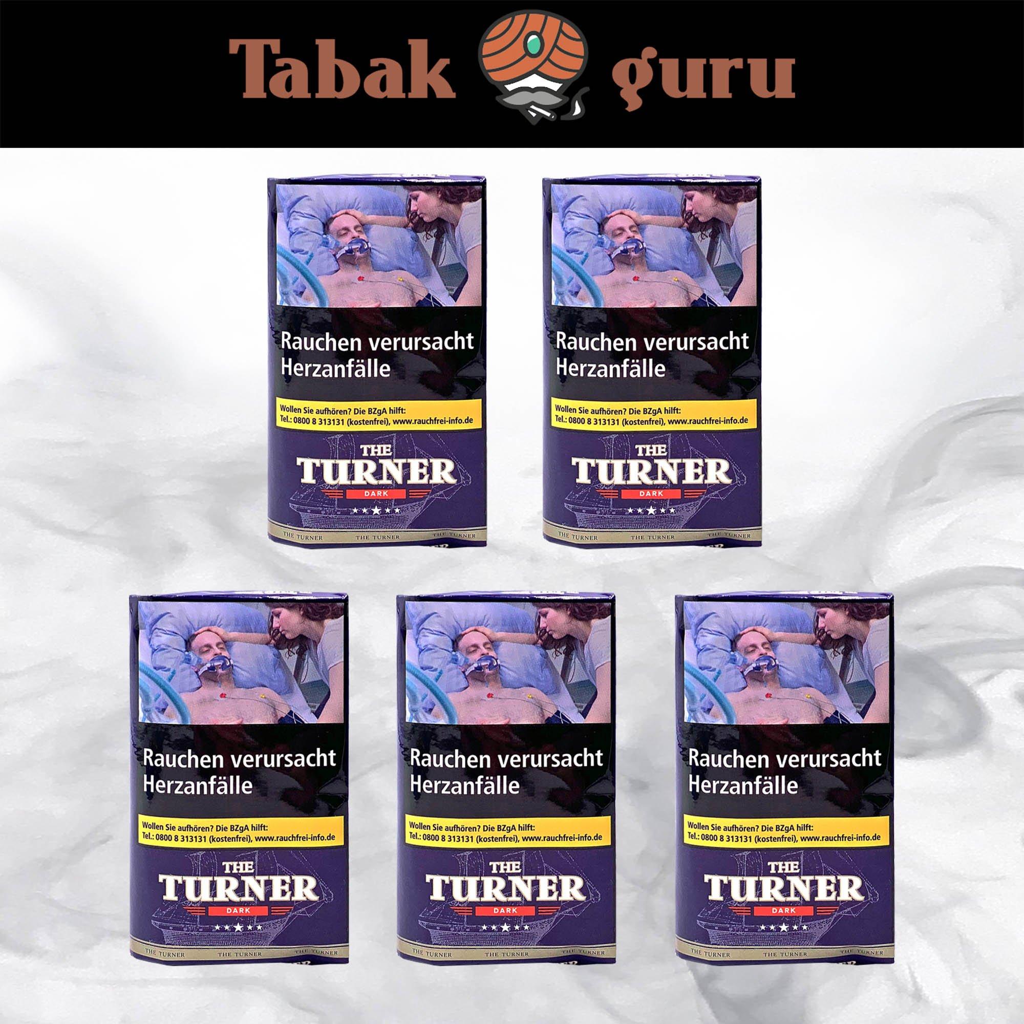 5 x The Turner Dark Drehtabak 40g Pouches
