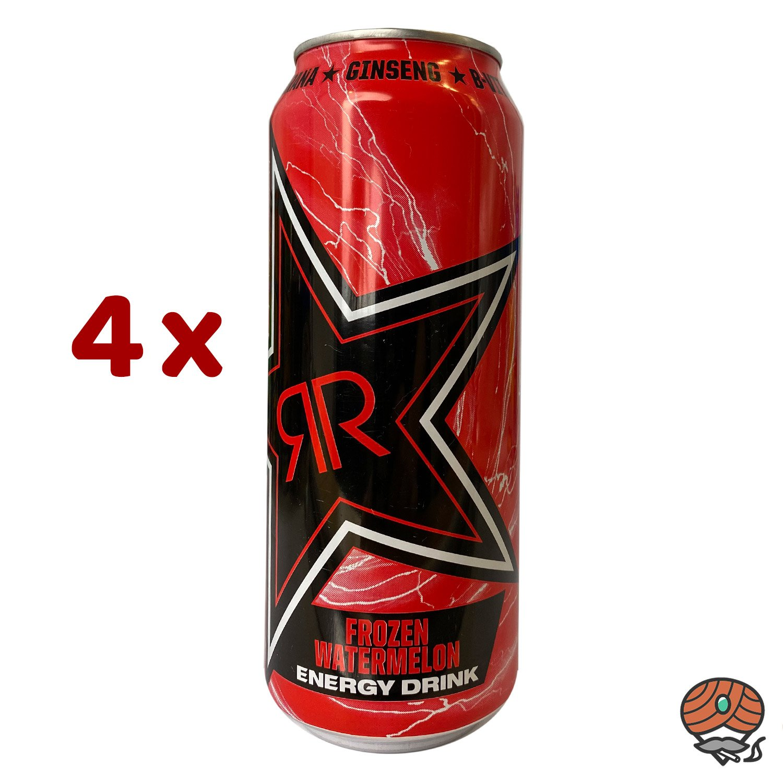4 x Rockstar, Freez, Frozen Watermelon, Energy Drink, 500 ml Dose