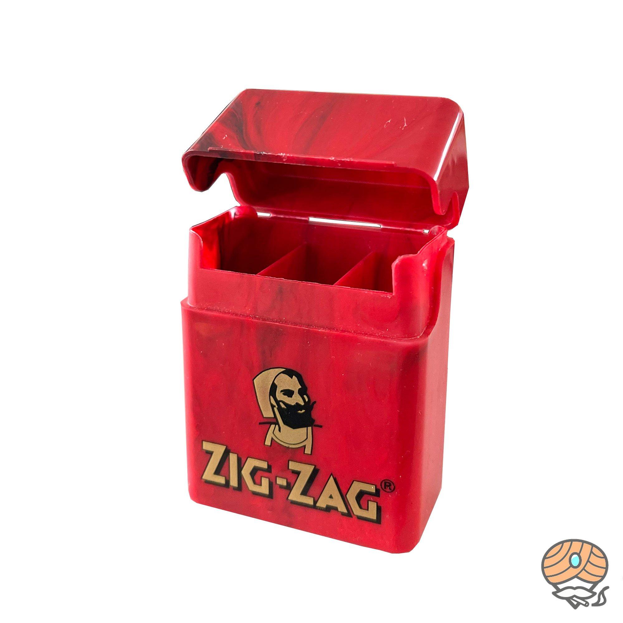 Zig-Zag Mini Zigarettenbox mit 3fach Unterteilung