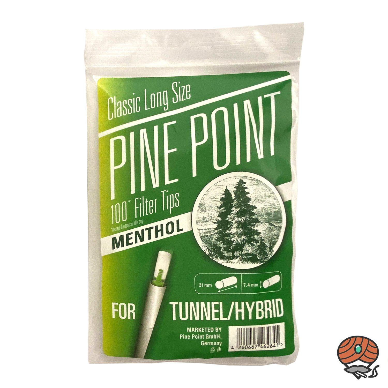 Filter Tips Menthol, 7,4 mm, 1 Packung à 100 Feinfilter von Pine Point