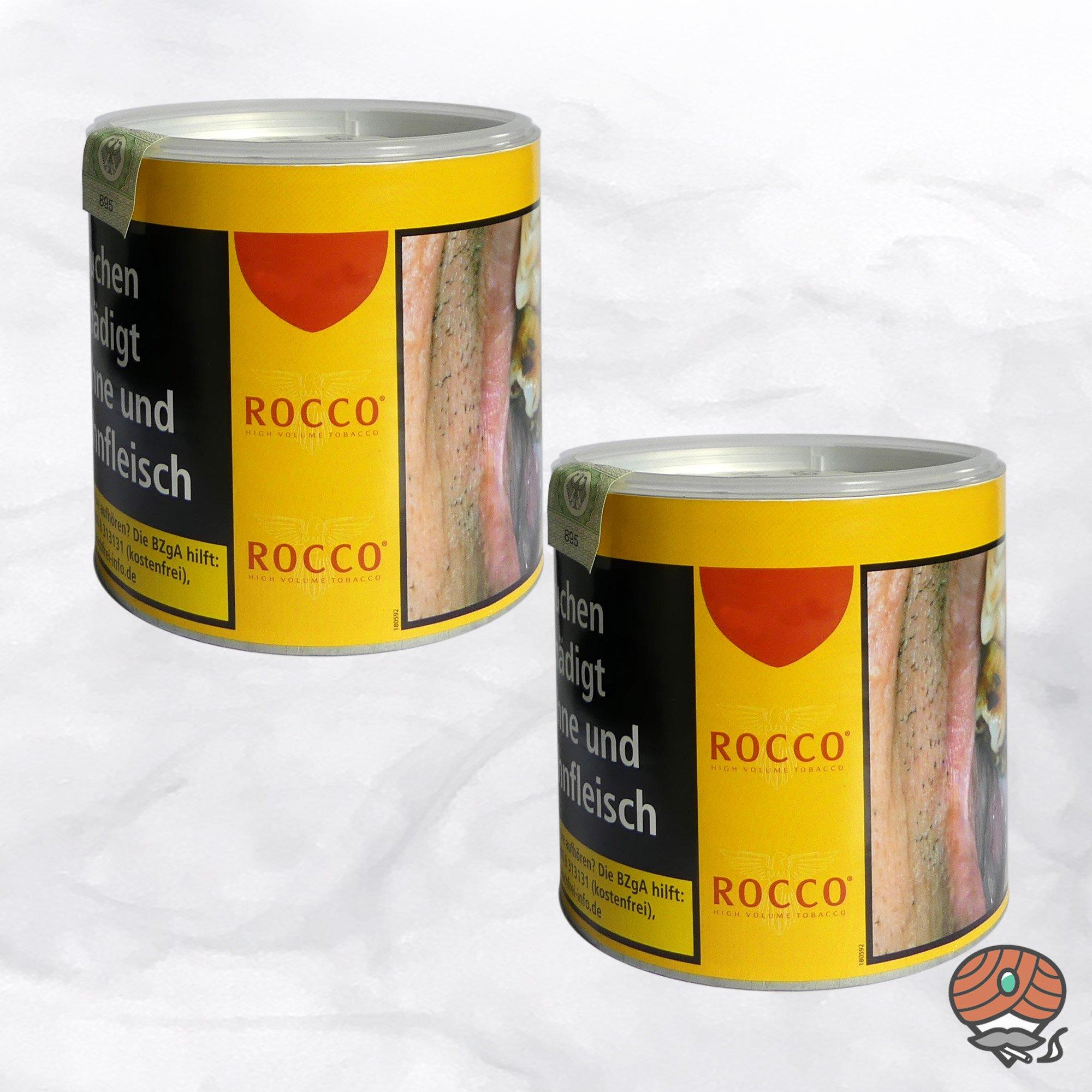 2 x ROCCO Tabak / Volumentabak Gelb Dose 35 g