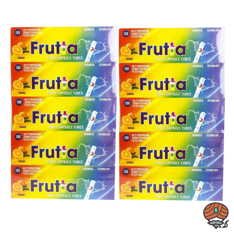 10 x Frutta Orange Click-Zigarettenhülsen, Packung à 100 Stück