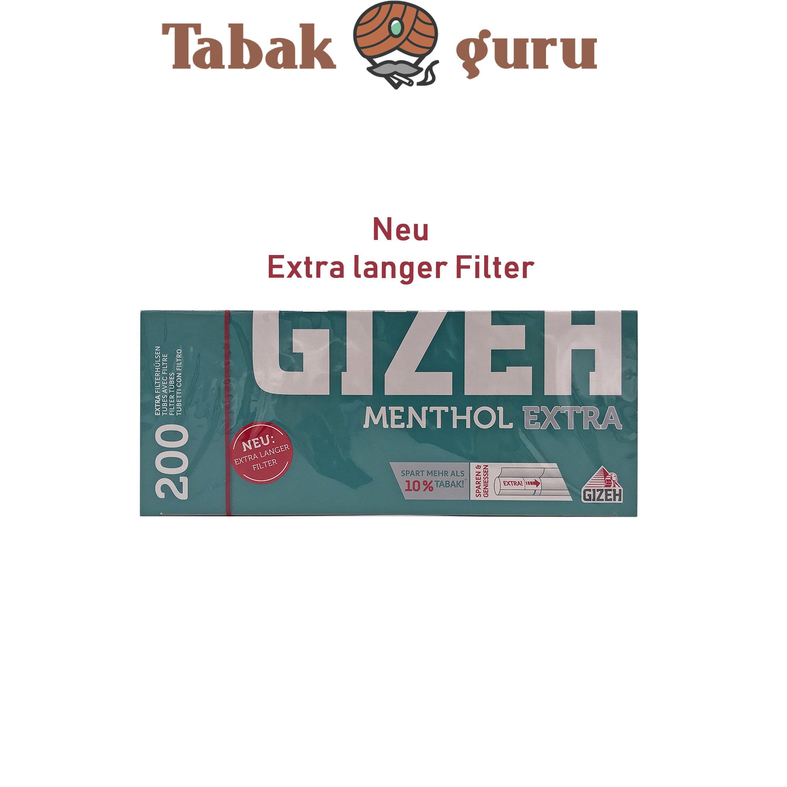 Gizeh Menthol Extra Filterhülsen