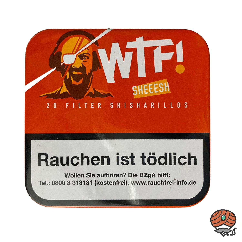 20 WTF! Filter Shisharillos Geschmacksrichtung SHEEESH (Vanille)