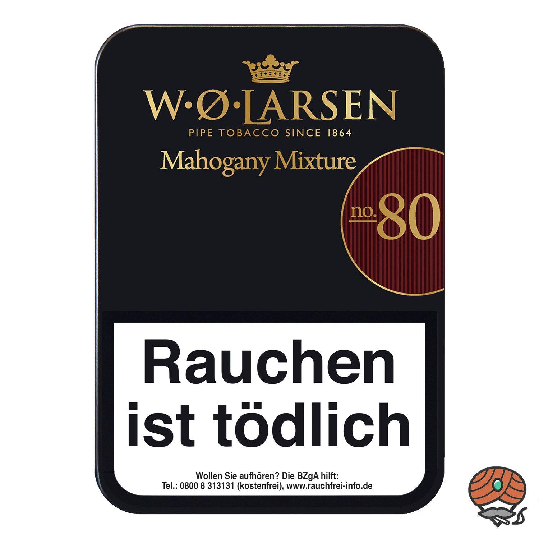 W.Ø. LARSEN Mahogany Mixture No. 80 Pfeifentabak 100g Dose