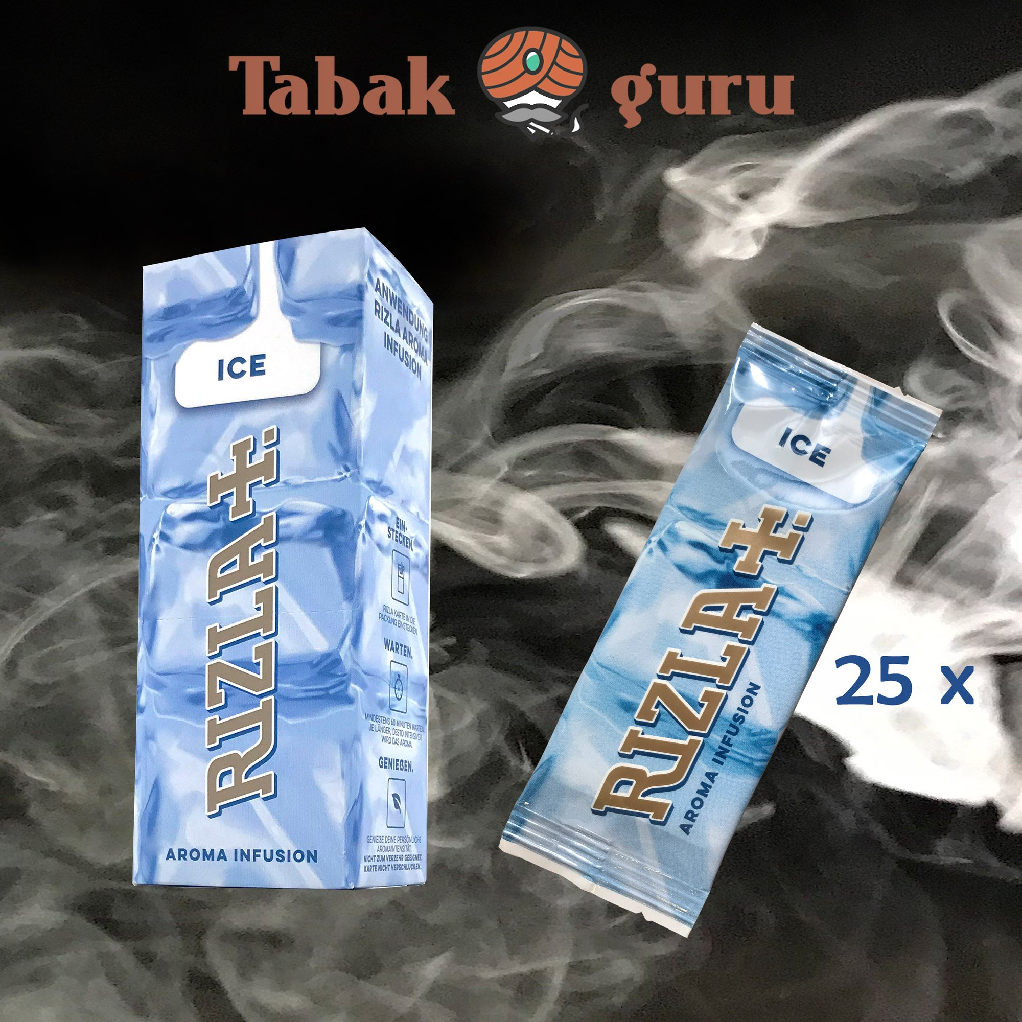25 x Aromakarte Rizla+  ICE Aroma Infusion
