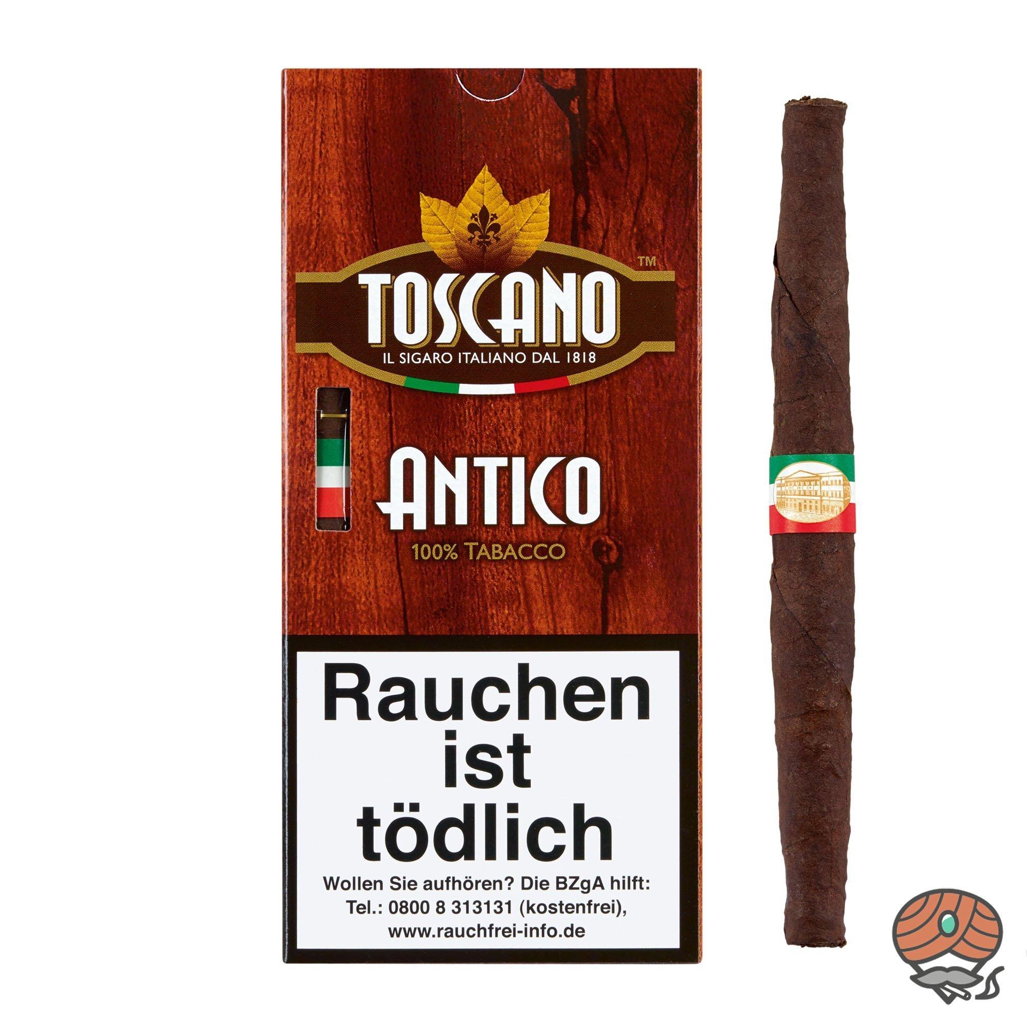 Toscano Antico 100% Tabacco Zigarren Inhalt 5 Stück