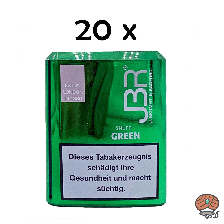 JBR Green/Wintergreen Snuff Schnupftabak 20x10g Dosen