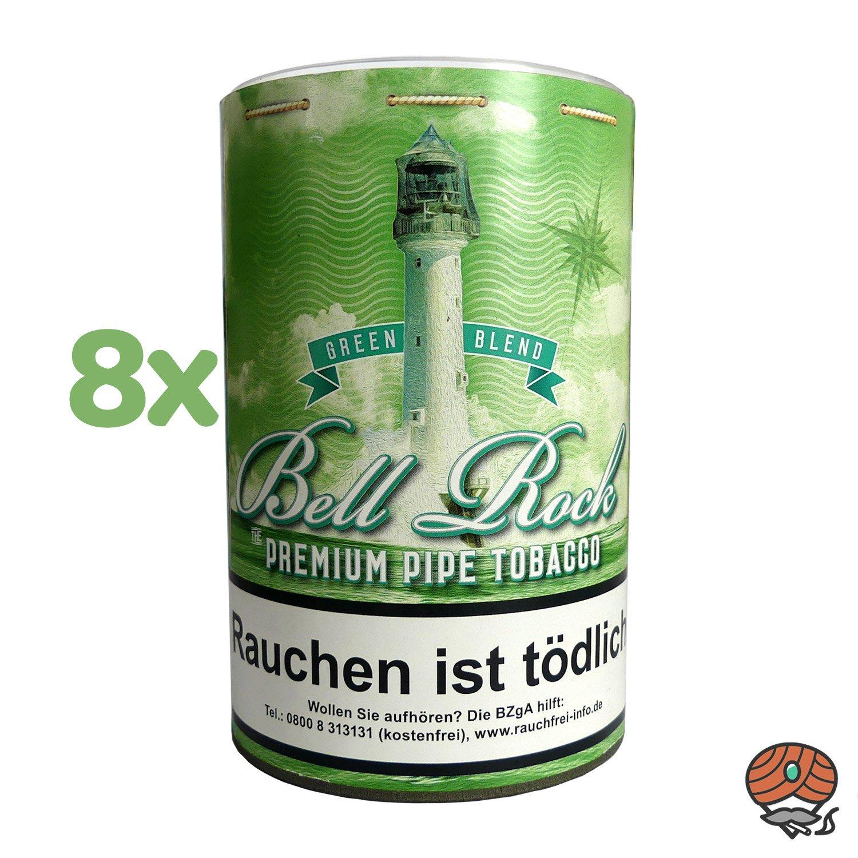 8 x Bell Rock Green Blend/ MenthoI Pfeifentabak 160 g Dose
