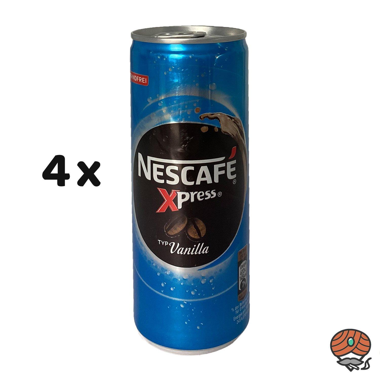 4 x Nescafé Xpress Typ Vanilla, 250 ml Dose