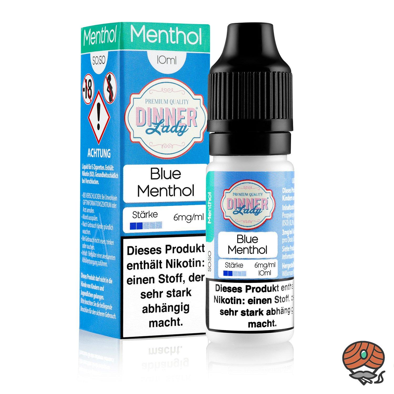 Dinner Lady Blue Menthol 6 mg/ml Nikotin, 10 ml Liquid 50/50