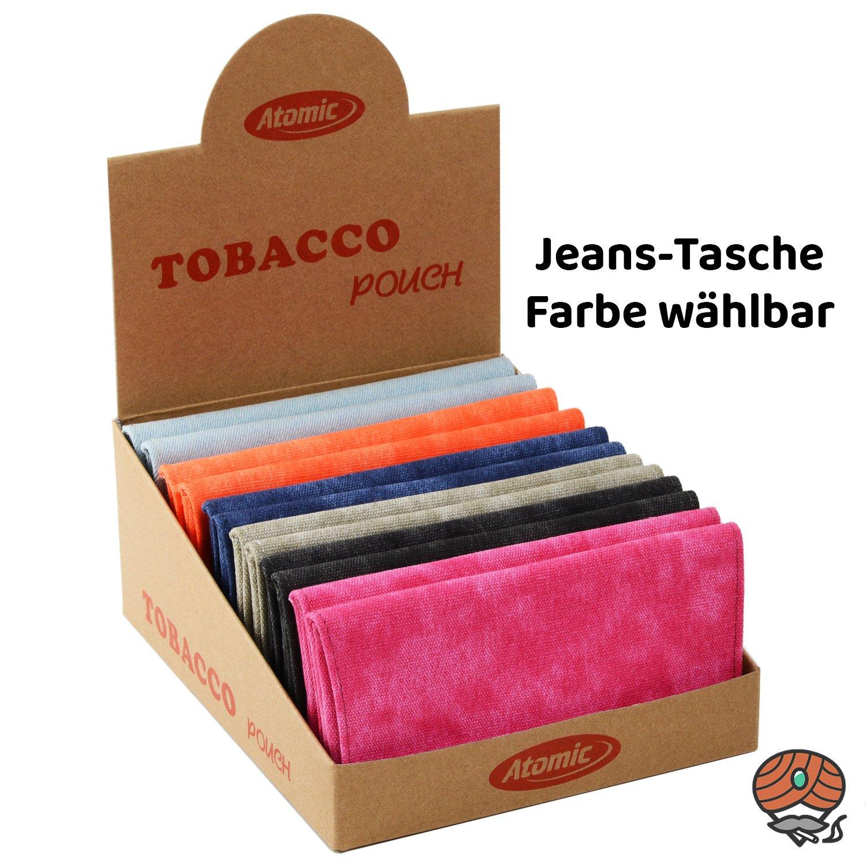 Atomic Tabak Beutel / Tasche XL für Drehtabak und Zubehör, Jeans, Farbe wählbar