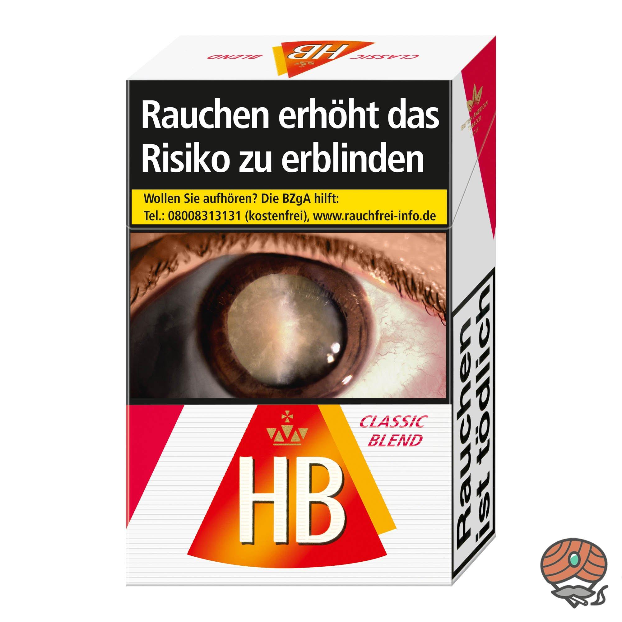 HB Classic Blend Zigaretten Inhalt 20 Stück