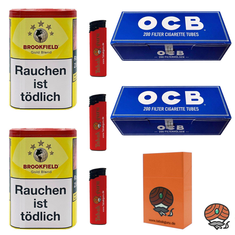 2 x Brookfield Gold Blend 120 g Dose + 2 x OCB Hülsen + Zubehör