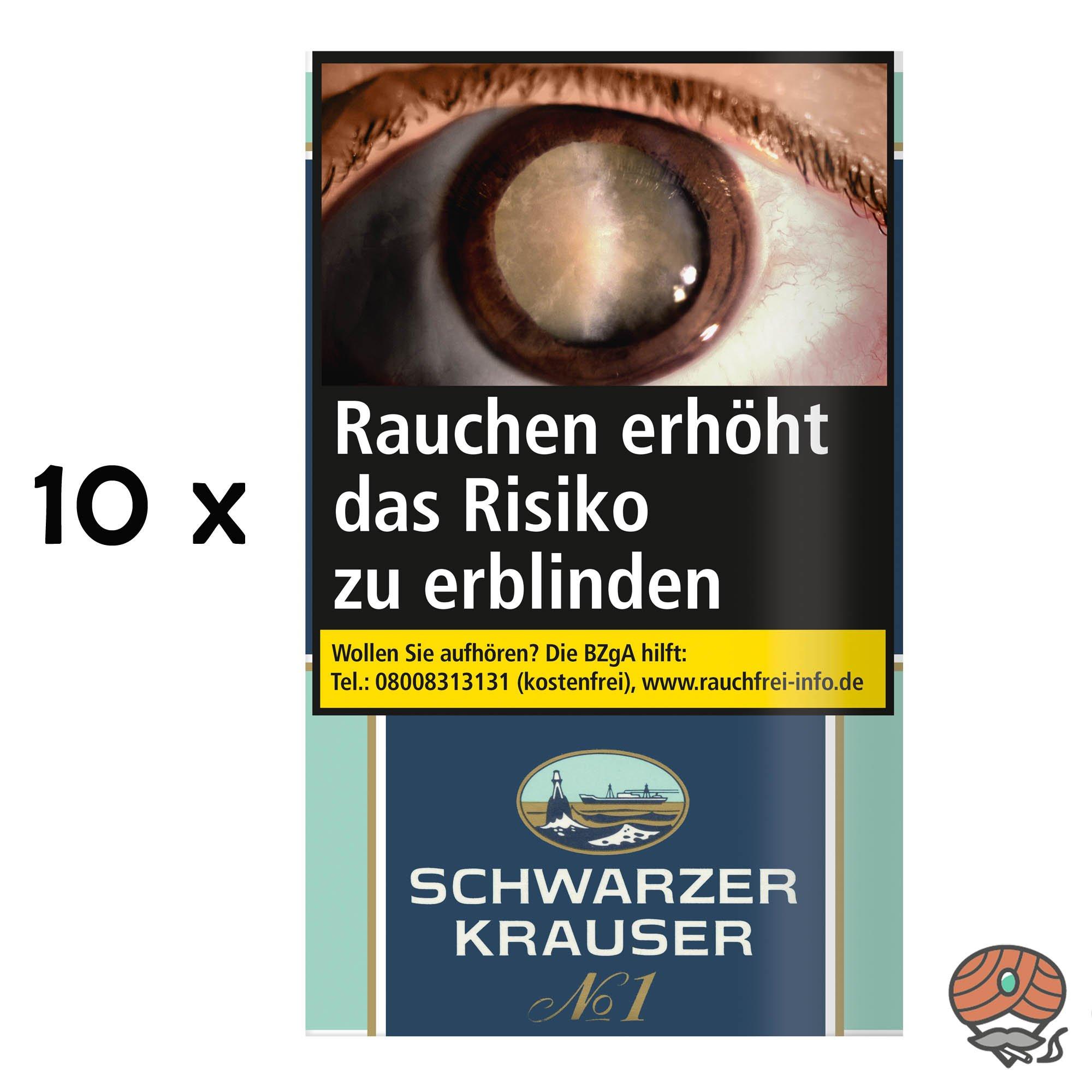 10 x Schwarzer Krauser No.1 Feinschnitt Drehtabak 30g