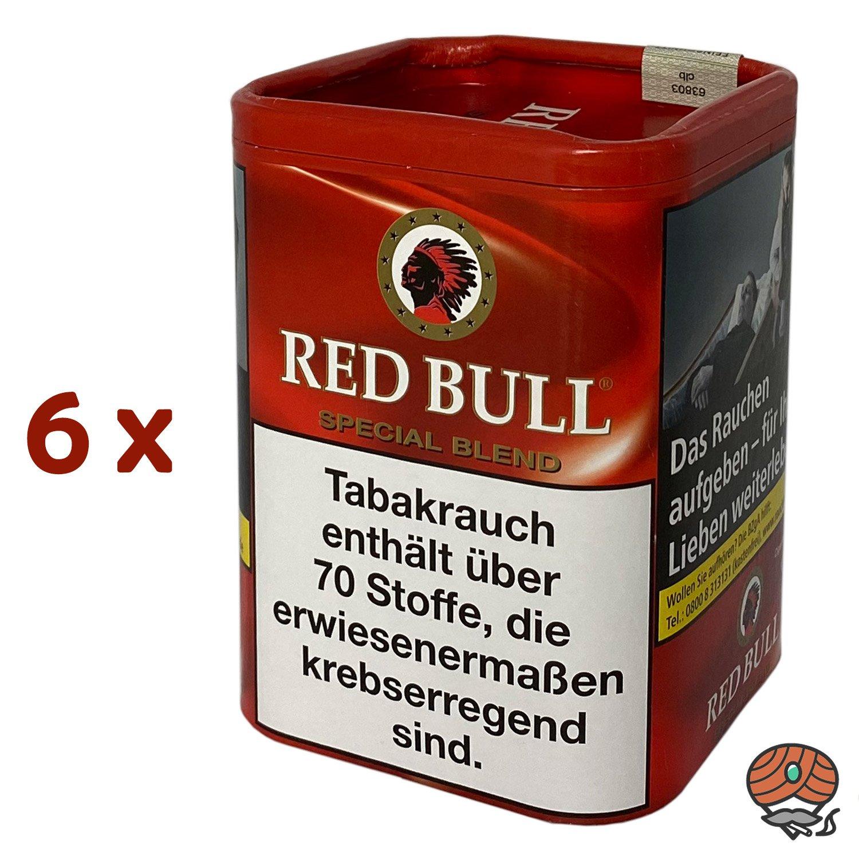 6x Red Bull Special Blend Tabak / Zigarettentabak Dose à 120g
