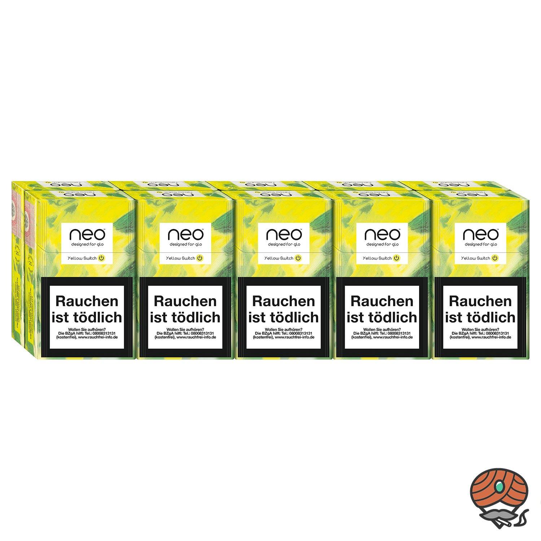 neo Yellow Switch für GLO - 10 x Tabak Sticks à 20 Stück