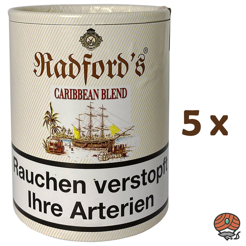5x Radford´s Caribbean Blend Pfeifentabak 200g Dose (ehem. Old Rum Royal)