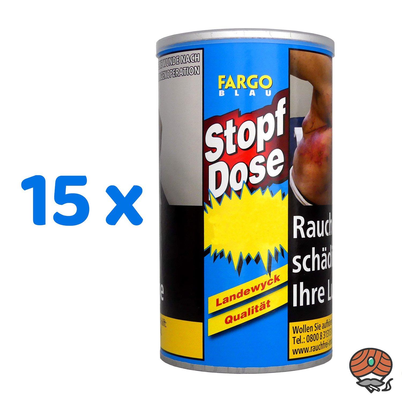 15 x Fargo Blau XXL Stopf-Dose à 140 g Feinschnitt-Tabak