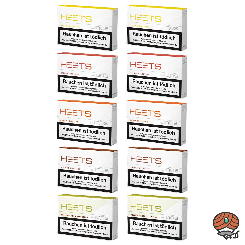 10 x HEETS 5 Sorten Tabak Sticks von Marlboro für IQOS 200 Stück