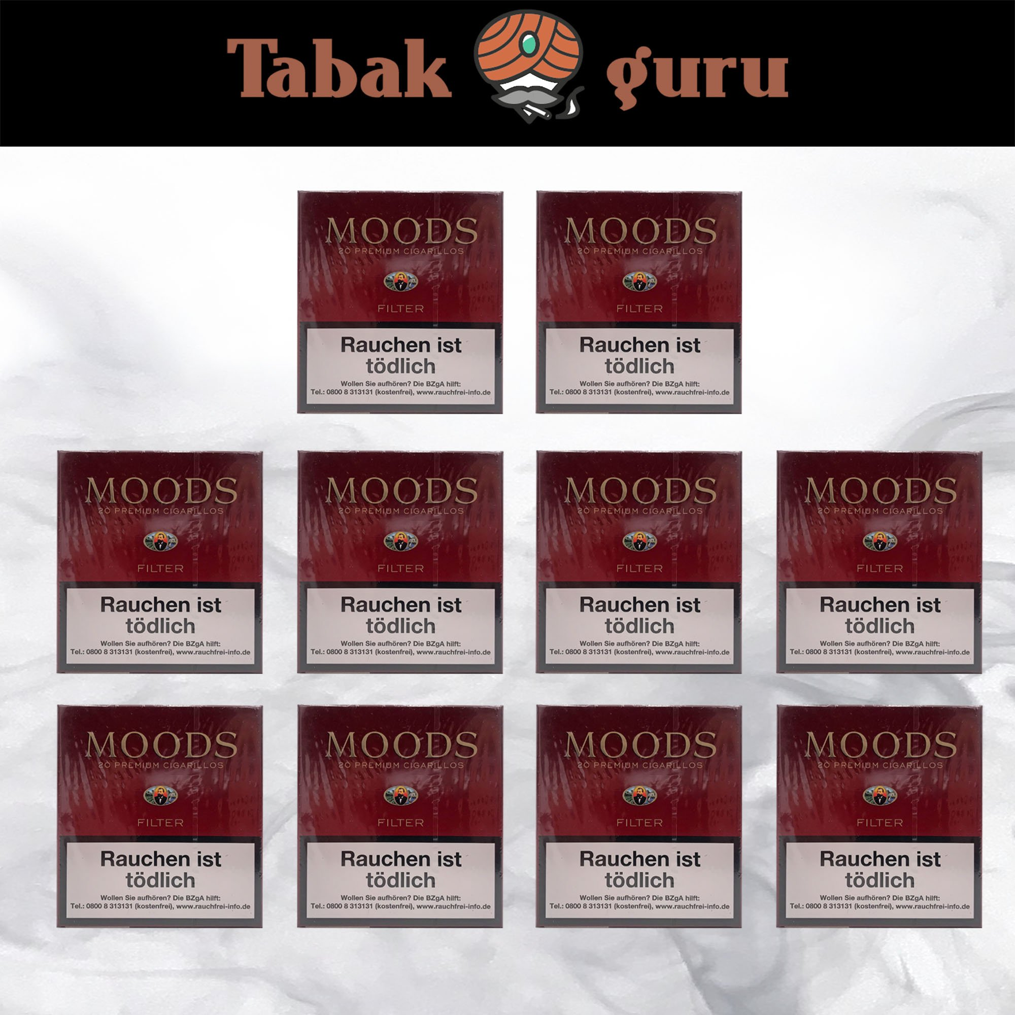 10 x Moods Filterzigarillos à  20 Stück