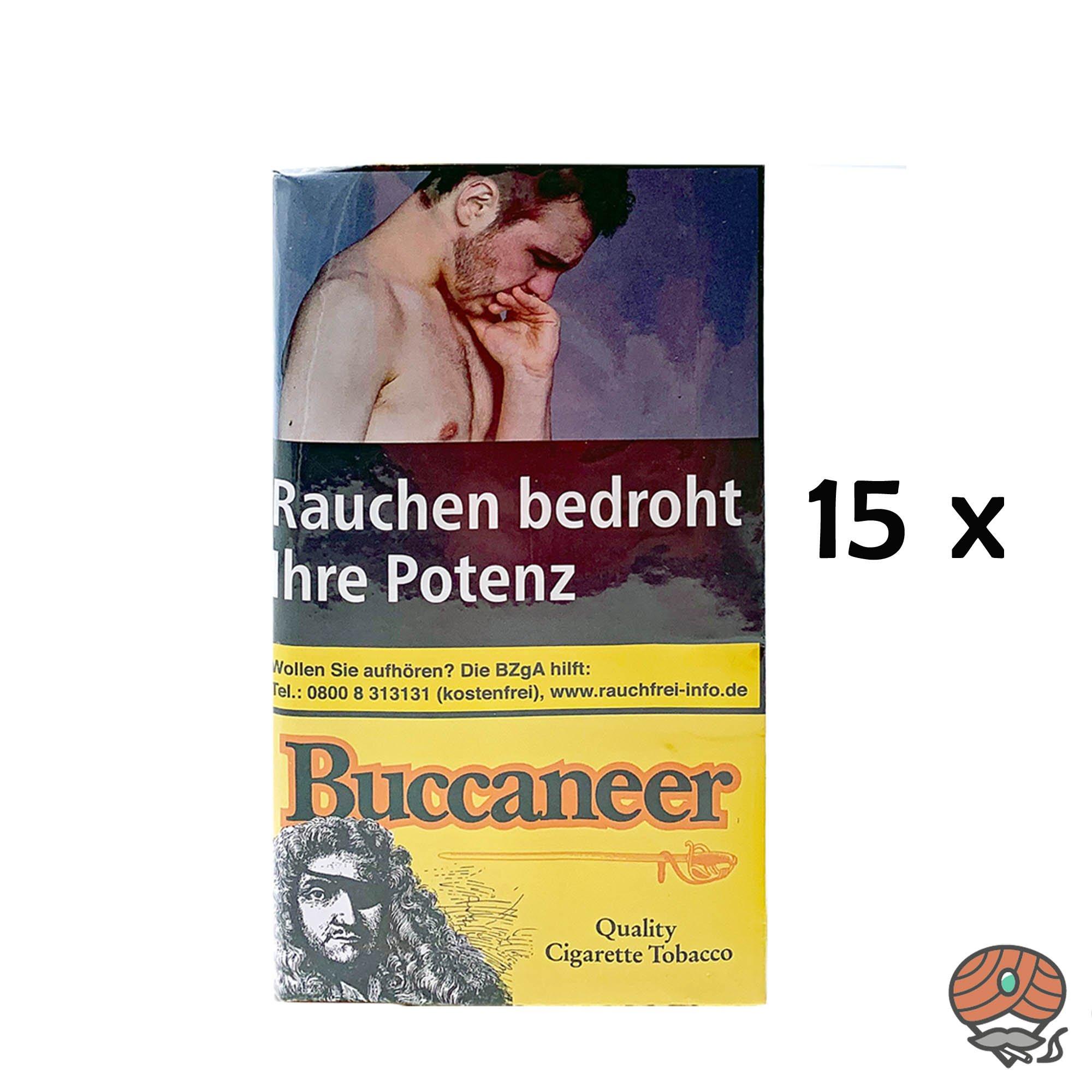 15 x Buccaneer Drehtabak / Feinschnitttabak Whisky Aroma