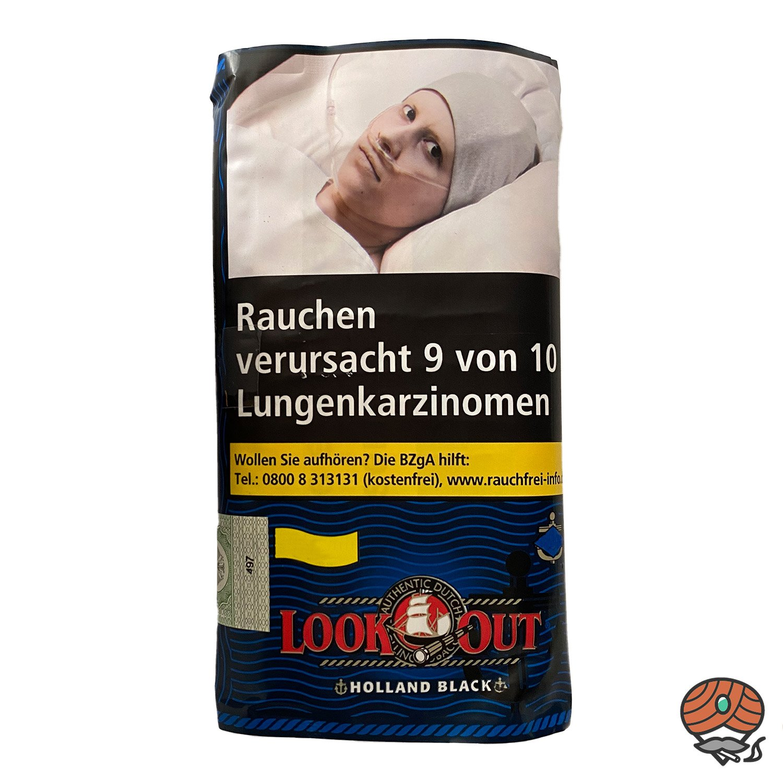 Look Out Holland Black (Zware) 50g Drehtabak Zigarettentabak