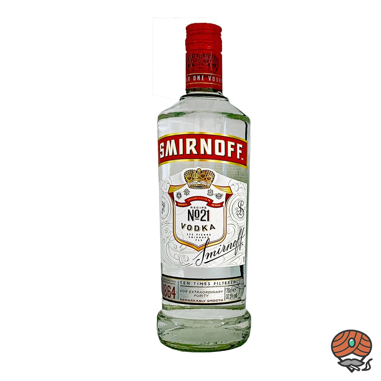 Smirnoff Red Label Vodka - Wodka 0,7 l, alc. 37,5 Vol.-% Recipe No. 21