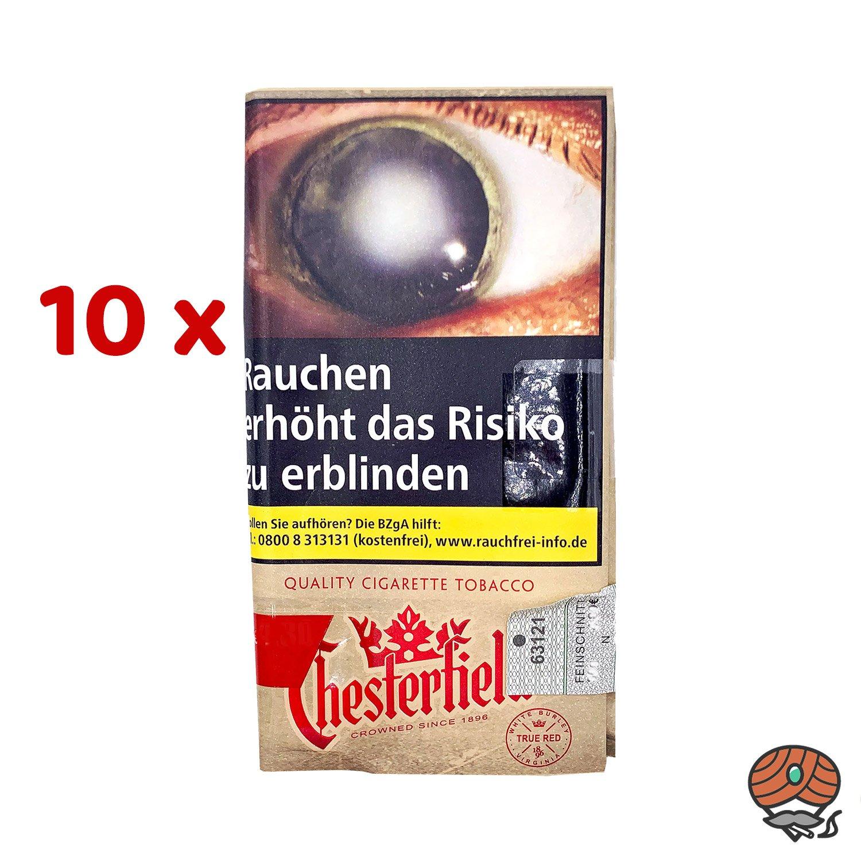 10 x Chesterfield True Red / Rot Drehtabak ohne Zusätze 30 g