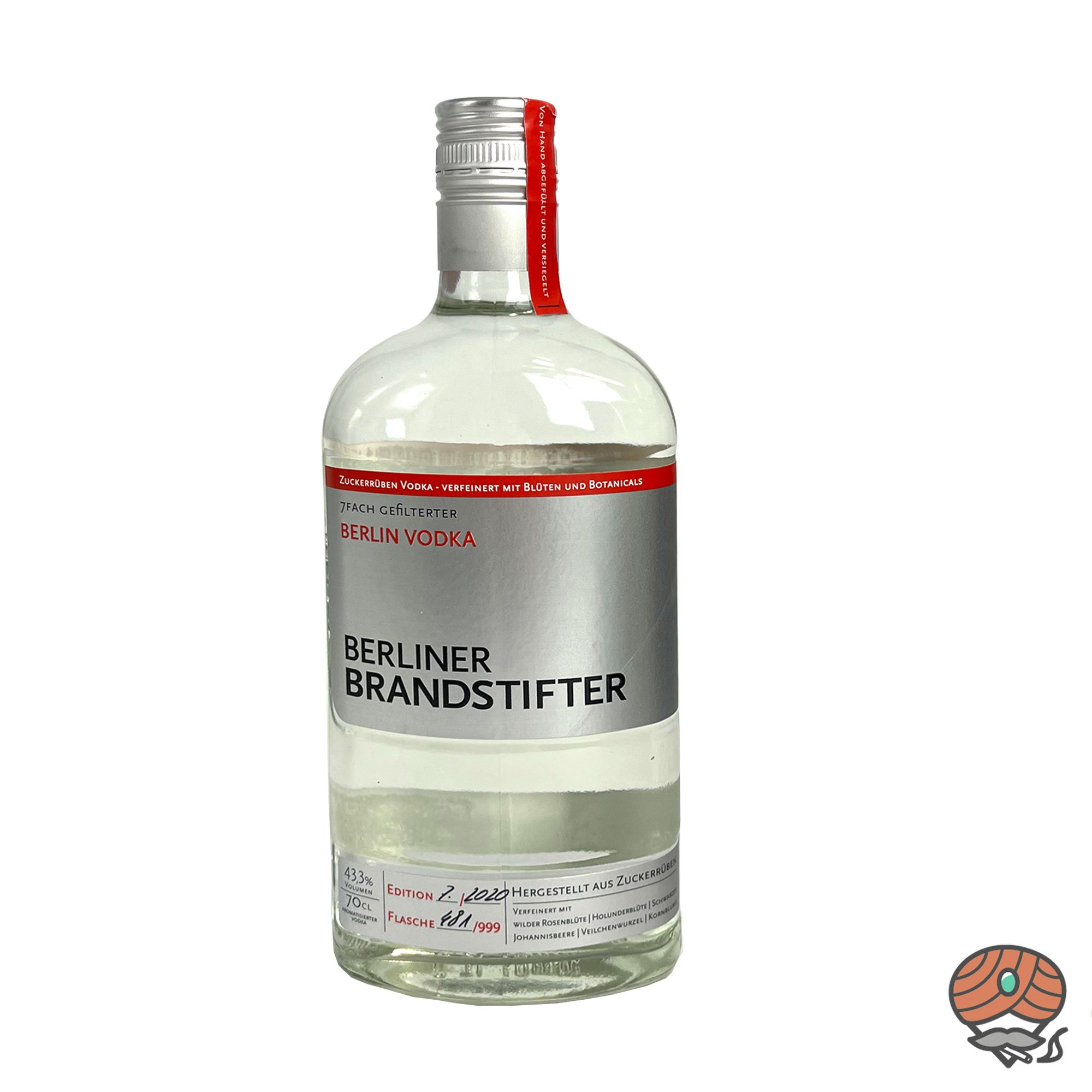 Beliner Brandstifter - Berlin Vodka 0,7l, alc. 43,3 Vol.-%