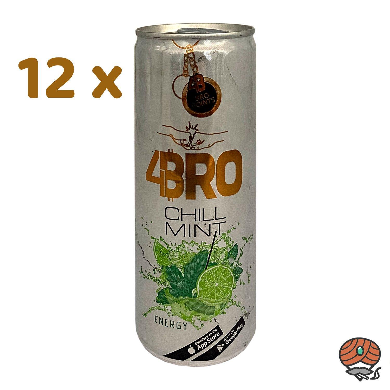 12 x 4BRO Energy Drink CHILL MINT à 250 ml (inkl. Pfand)