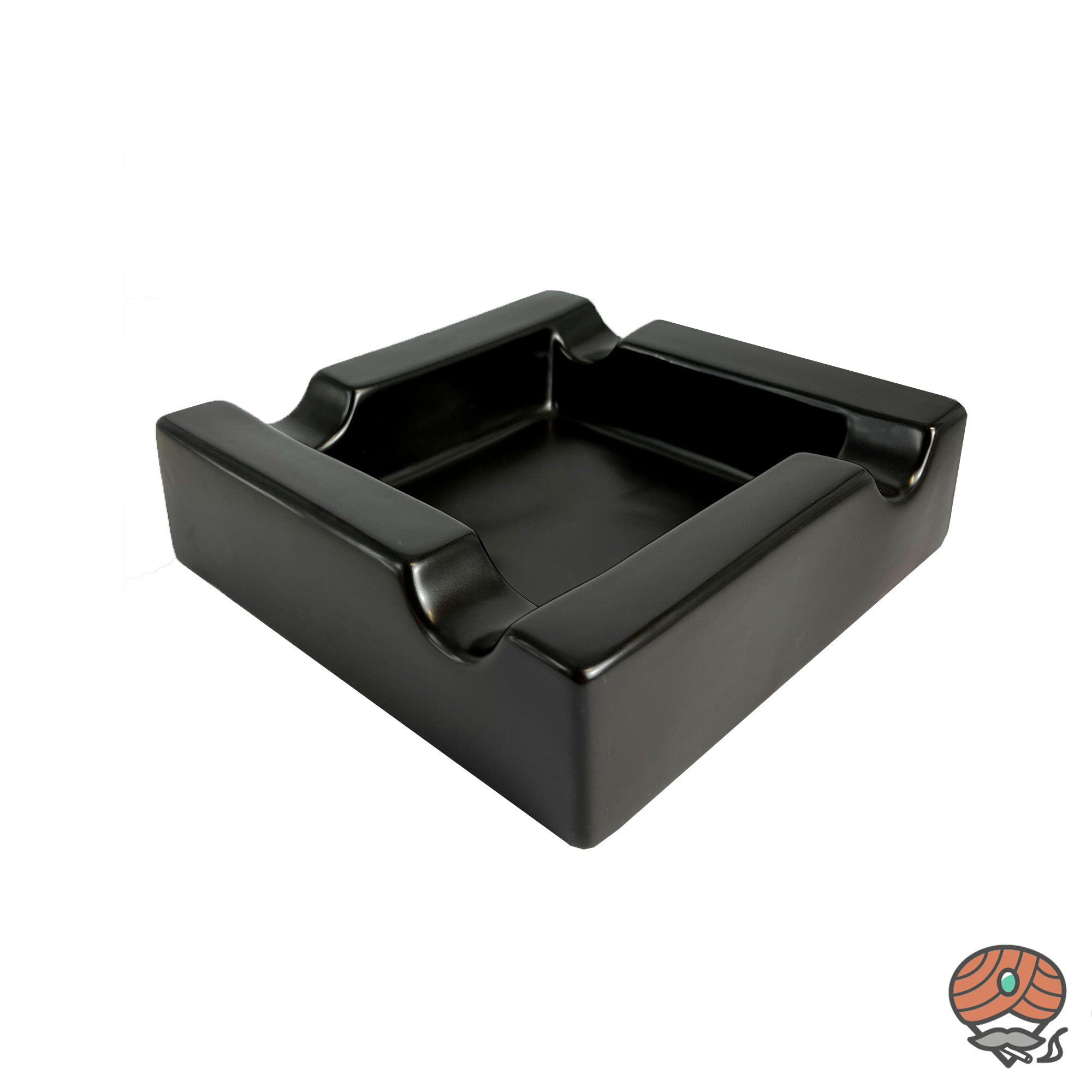 Angelo Keramik Zigarrenaschenbecher schwarz für 4 Zigarren
