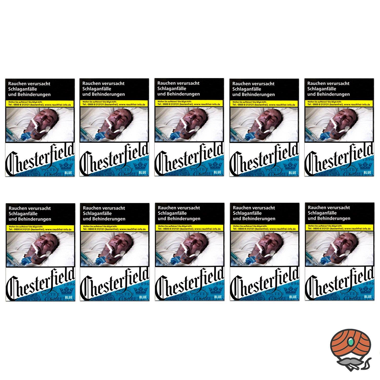 1 Stange Chesterfield BLUE Zigaretten L Schachtel 10x21 Stück