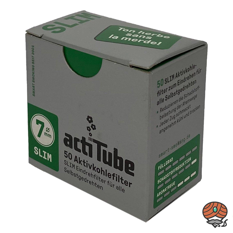 ActiTube Aktivkohlefilter Slim, 7mm, à 50 Stück