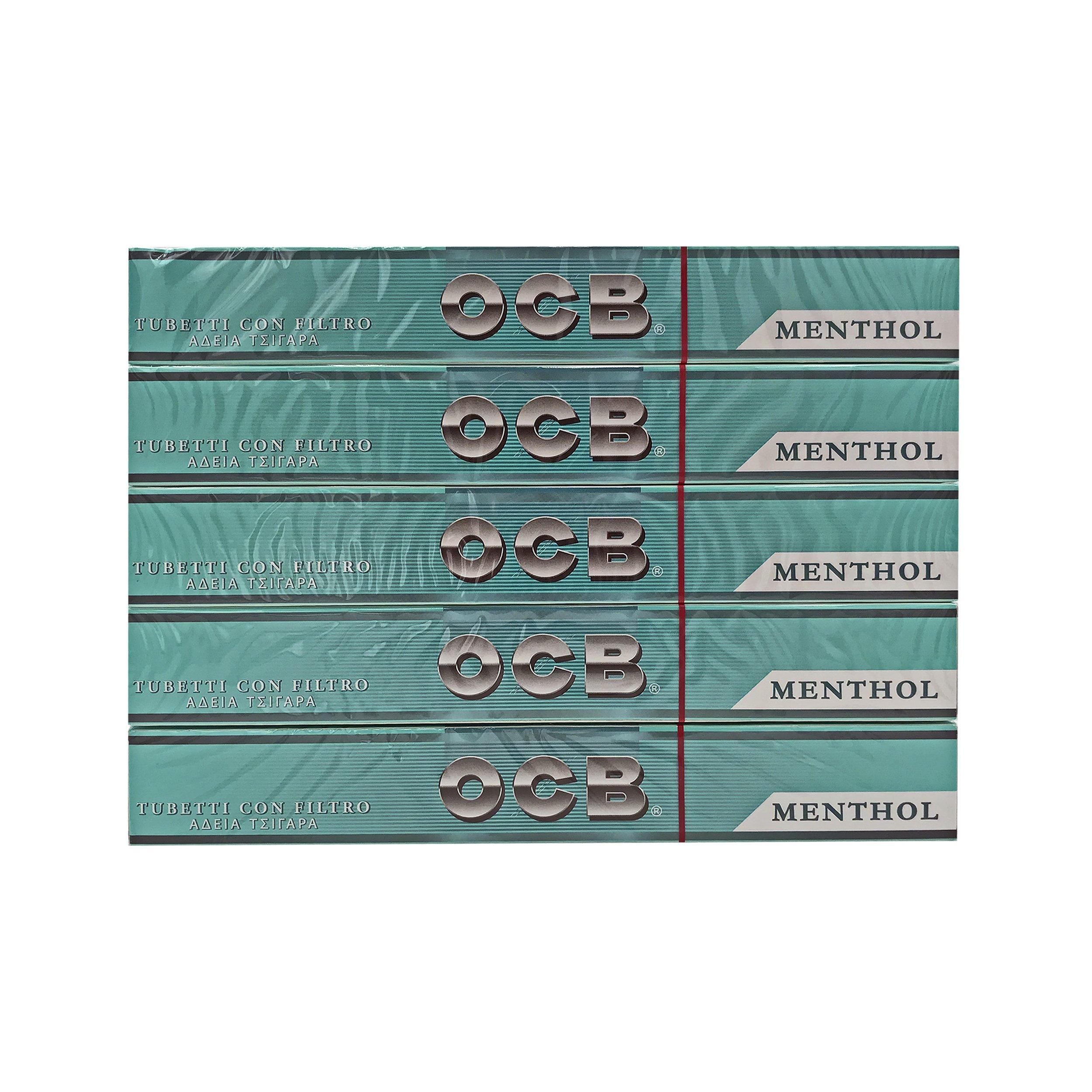 500 OCB Menthol Hülsen Zigarettenhülsen OCB Hülsen Zigaretten- Filterhülsen