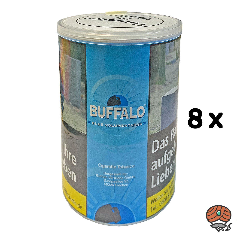 8x Buffalo Blue / Blau Volumentabak Dose à 75g