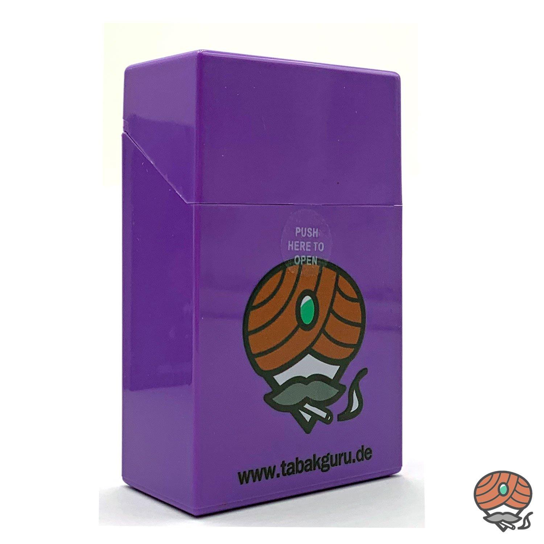 Atomic Sprungdeckel Zigarettenbox Violett Tabakguru Motiv