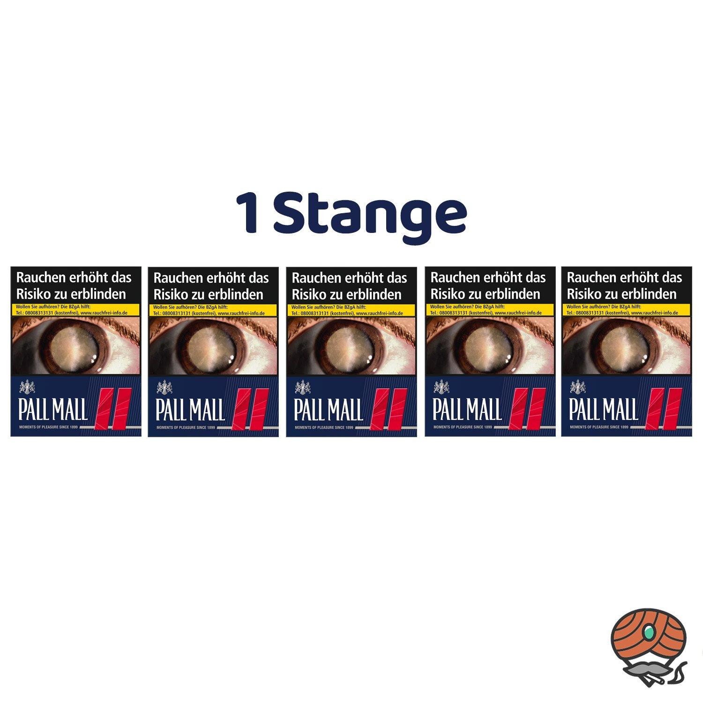 1 Stange Pall Mall Red / Rot Zigaretten Super Box 5x37 Stück