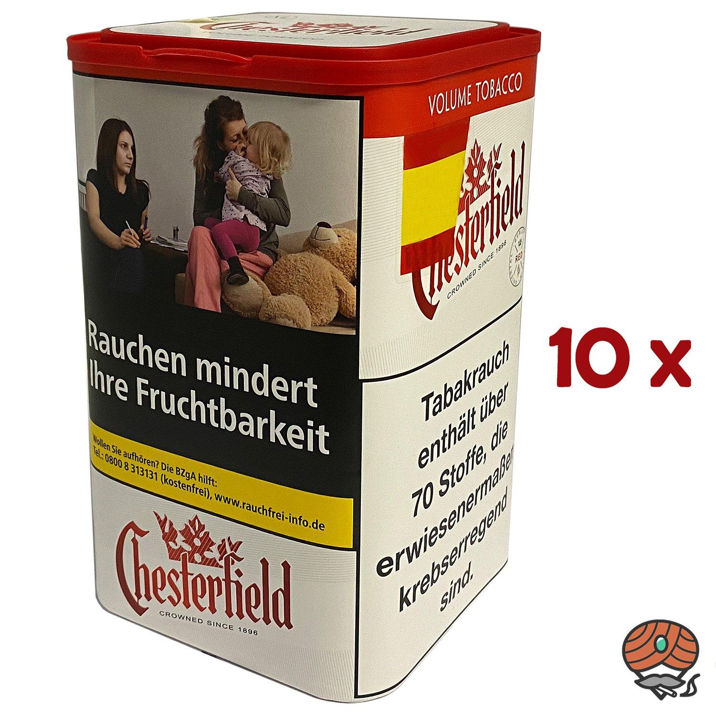 10x Chesterfield Red Volumentabak - Tabak XL Dose à 95 g