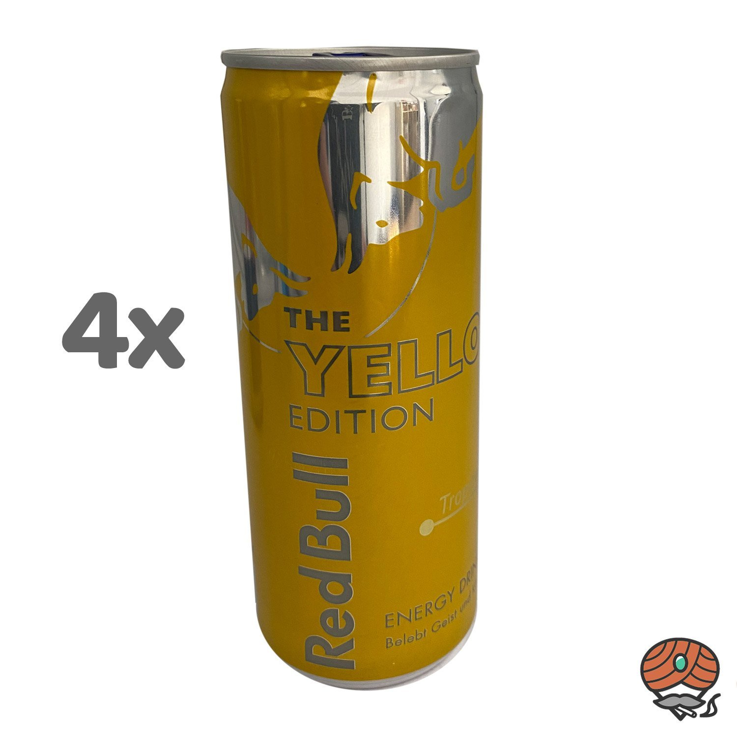 4 x Red Bull Energy Drink THE YELLOW EDITION, Tropical, 250 ml Dose