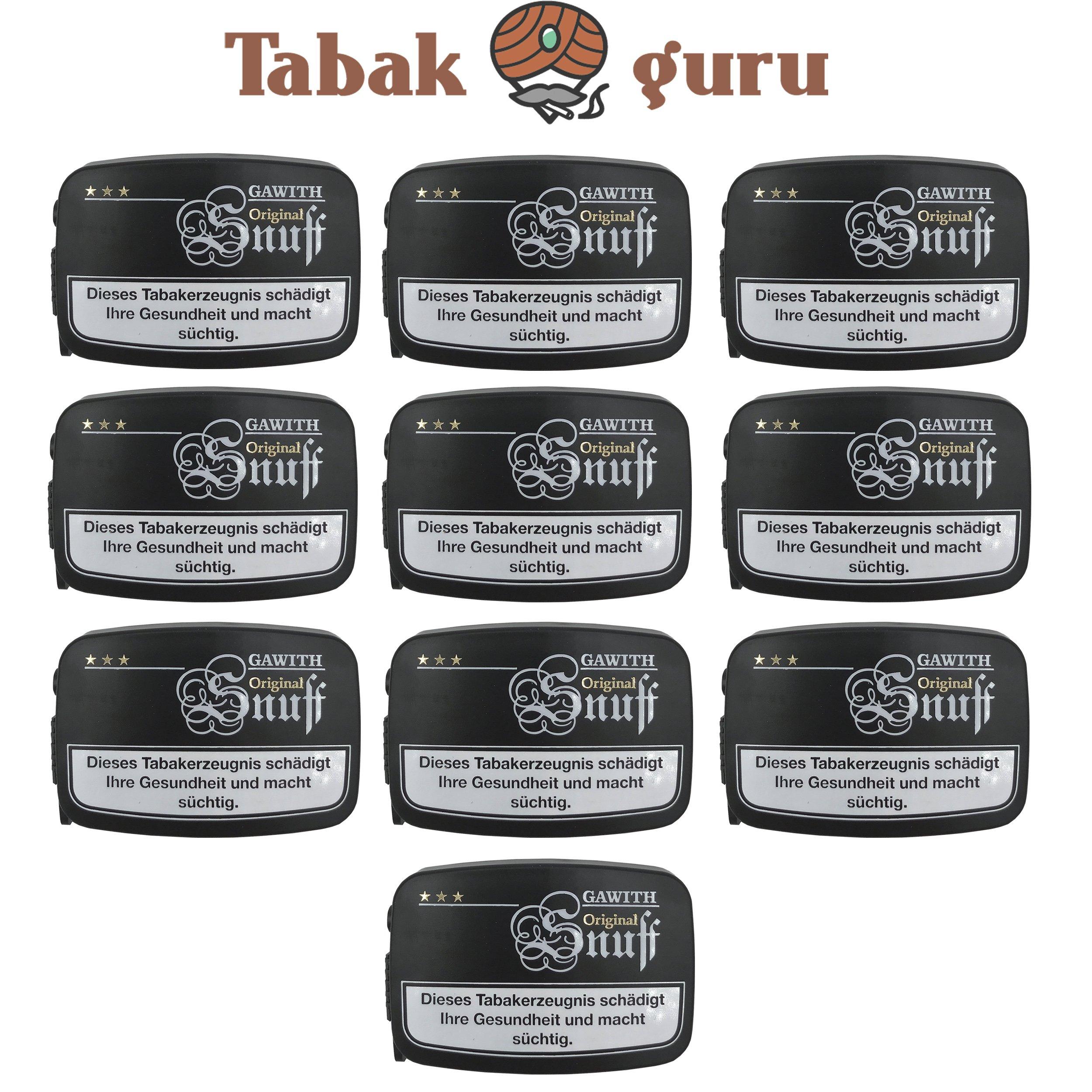 10x Gawith Original Snuff Schnupftabak á 10 g
