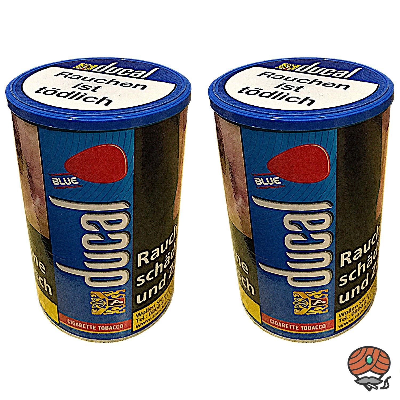 2x Ducal Blue / Blau Feinschnitt Zigarettentabak Dose à 200 g