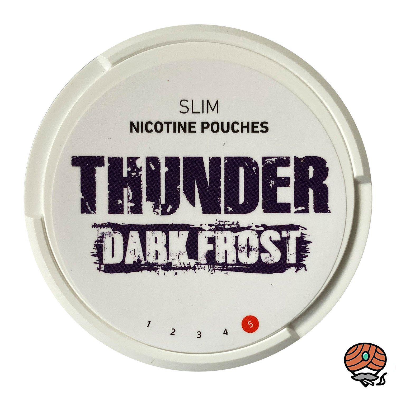 THUNDER Dark Frost SLIM Extra Strong - Nikotinbeutel / Nicotine Pouches, Kautabak Snus
