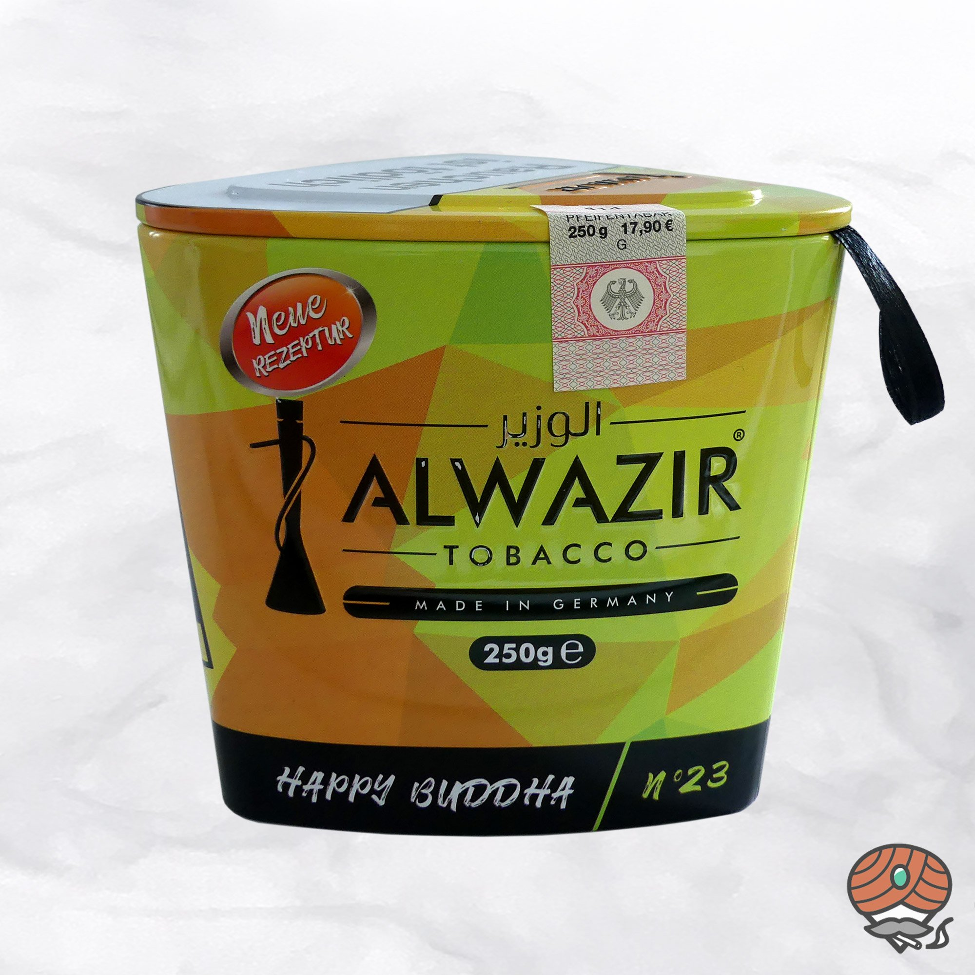 Alwazir Shisha Tabak - No. 23 - HAPPY BUDDHA 250g