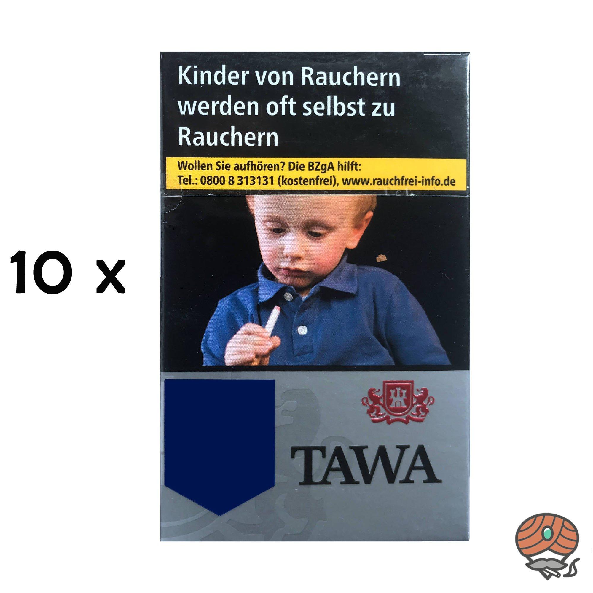 Tawa Silver / Silber Zigaretten 10x20 Stück = 1 Stange