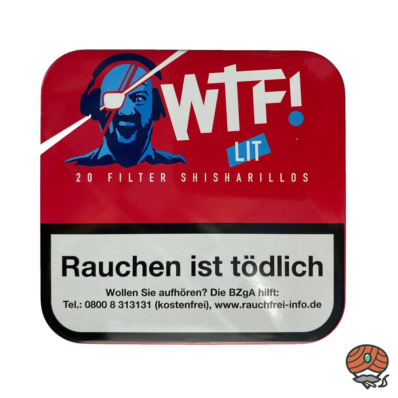 20 WTF! Filter Shisharillos Geschmacksrichtung LIT (Blaubeere)